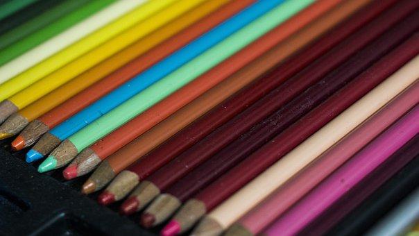 Colors, Pencils, Color, Drawing, School, Creative