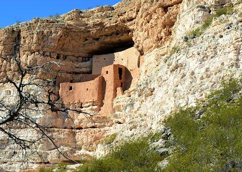 Arizona, Ruins, Indian, Dwelling
