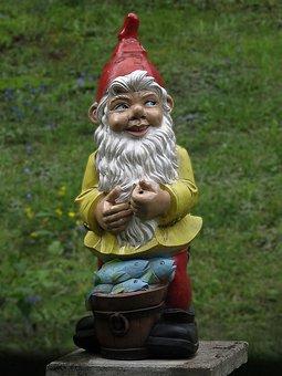 Garden Gnome, Imp, Ceramic, Garden, Ceramic Figures