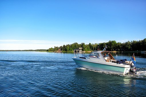 Summer, Boat, Sea, Landscape, Horizon, åland, Finnish