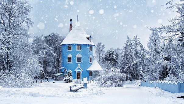 Winter, Snowing, Moomin World, Moomin, Landscape, Ice