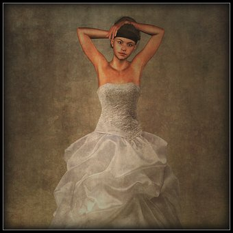 Woman, Bride, Dress, Photo Manipulation, Beauty