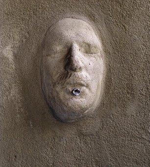 Fountain, Face, Gargoyle, Rock Carving, Stone, Head