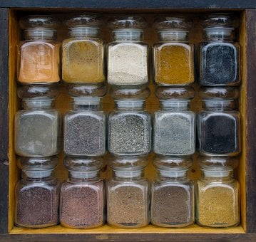 Stock Glass, Sand And Earth, Sand, Earth, Made A, Shelf