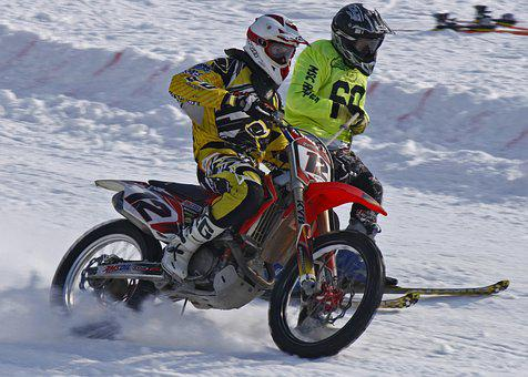 Skijoring, Motorcycle, Ice Speedway, Winter Sports