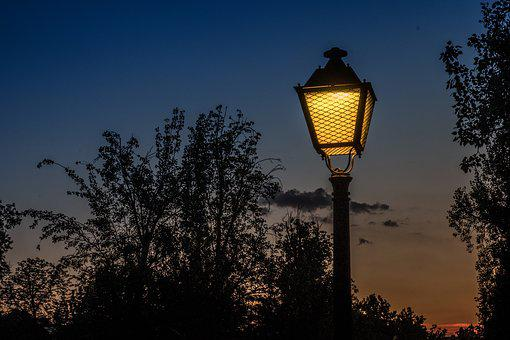Sunset, Street Lamp, Light, Warmth, Backlight, Sky