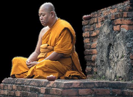 Isolated, Monk, Faith, Buddhism, Bangkok, Human