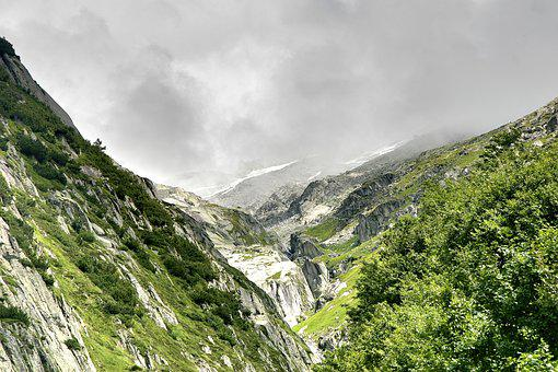 Grimsel Pass, Switzerland, Mountains, Bernese Oberland