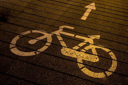 Bicycle, Bike Path, Street, Trail, Madrid, Via, Cobble