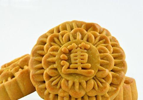 Mooncake, Mini, Pastry, Chinese, Asia, Cuisine, Bakery