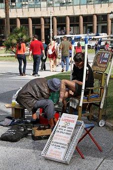 Shoeshine Man, Woman, Polish, Shine, Care, Cleaning