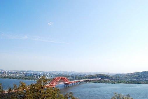 Cloths Bridge, Sky, Han River
