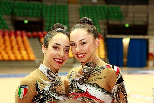 Athletes, Gymnasts, Sport, Gymnastics, Couple, Smile