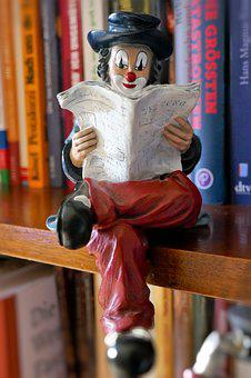 Figure, Clown, Read, Funny, Decoration, Colorful