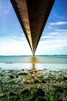 Humber Bridge, River, Tidal, Bridge, Humber