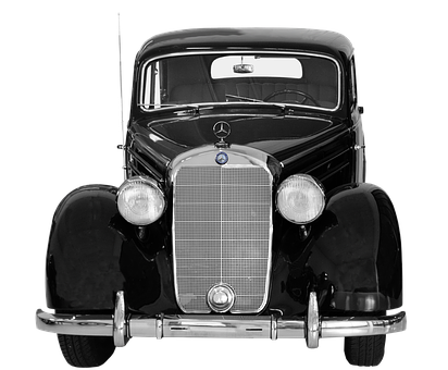 Isolated, Mercedes Benz, 170s, 50 Years, Oldtimer
