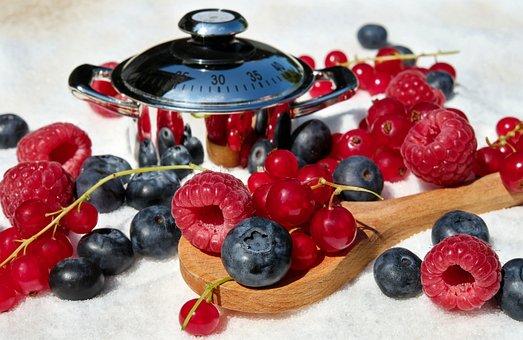Berries, Mixed, Raspberries, Blueberries, Currants