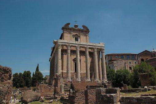 Rome, Forum, Temple, Ancient Architecture