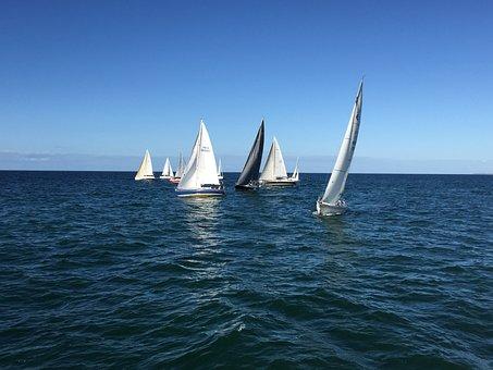 Sail, Baltic Sea, Water, Sea, Maritime, Water Sports
