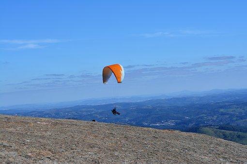 Paragliding, Flight, Free Flight, Sky, Blue Sky, Stone