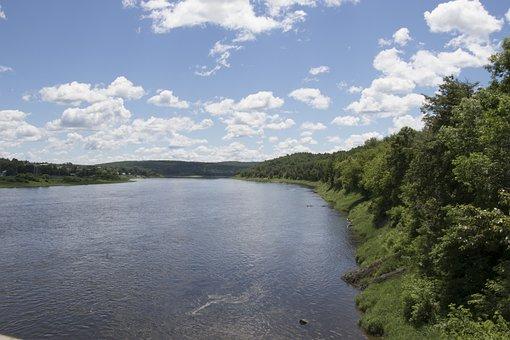 Saint John River, New Brunswick, Sunny, Summertime