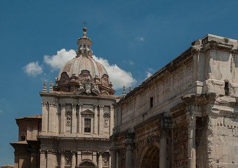 Rome, Triumphal Arch, Titus, Ancient Ruins