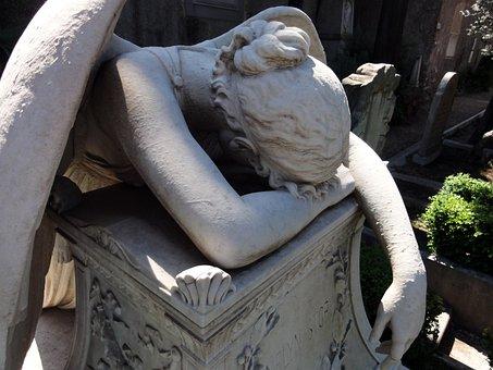 Angel, Sculpture, Marble, Guardian Angel, Statues