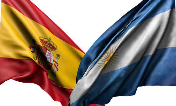 Flag, Spain, Argentina, Red, Yellow, Blue, White