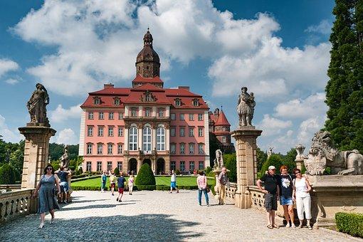 Książ, Castle, Prince Stone, Poland, Sun, Summer