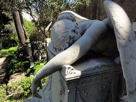 Angel, Cemetery, Funerary Art, Guardian Angel, Italy