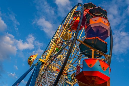 Big Wheel, Ferris Wheel, Fairground, Wheel, Fun, Ferris