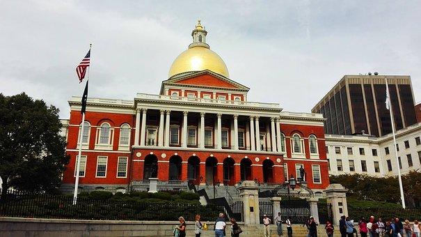 Boston, Massachusetts, Usa, United States, Flag