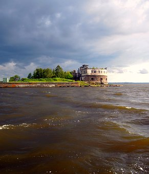 Fort, Kronshlot, Fortress, Fortification, Seascape, Sea