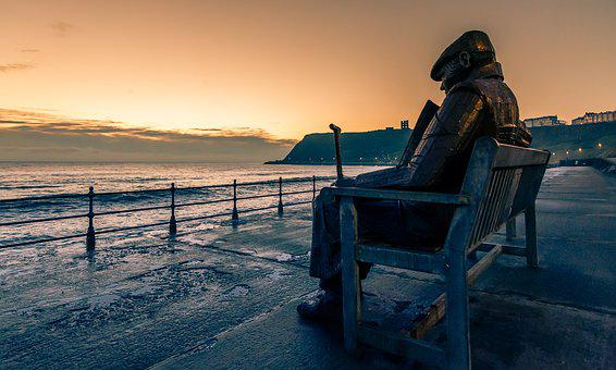 Seascape, Sculpture, Giant Bench, Scarborough, Old Man