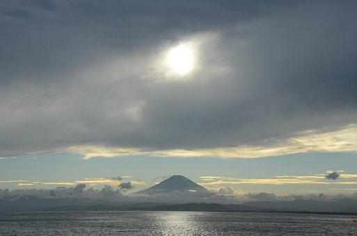 Enoshima, Japan, Fuji, Landscape, Travel