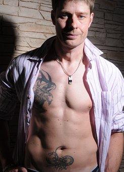 Tattooed Man, Sexy, Muscular, Male, Man, Tattooed
