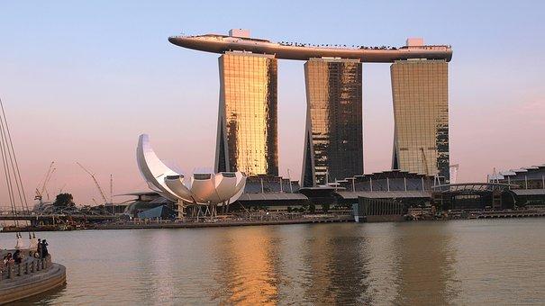 Singapore, Marina Bay Sands, Skyscraper, Cityscape