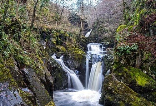 Ingleton, Waterfall, Trail, Water, Yorkshire, Nature