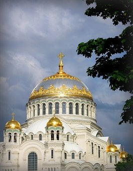 Sea, Cathedral, Temple, Kronstadt, Naval Cathedral