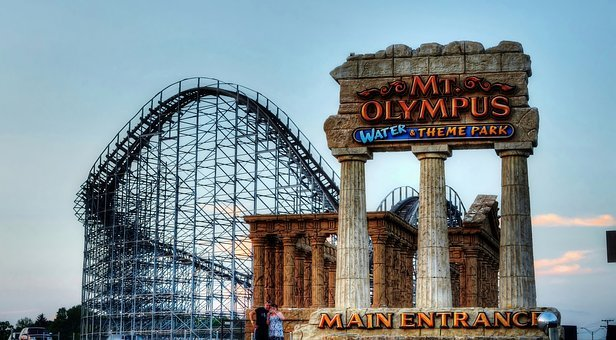 Wisconsin, Dells, Mt, Olympus, Theme Park