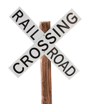 Railroad Crossing Sign, Train, Railway, Warning
