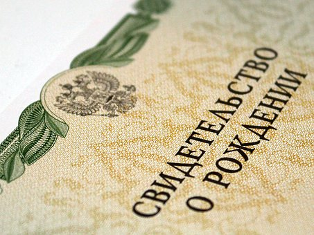 Birth Certificate, Russia, Document, Kids, Demographics
