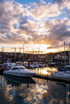 Scarborough, Harbour, Seascape, Last Light, Sunset, Sea