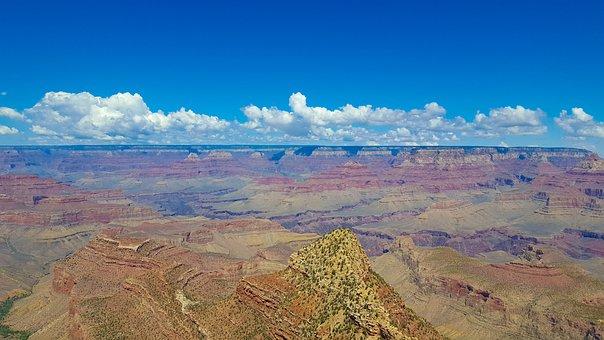 Sky, Canyon, Grand Canyon, California, Clouds, Usa