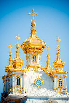 Peterhof, Dome, St Petersburg Russia, Church