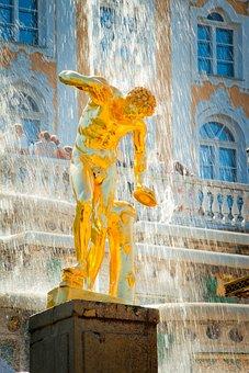 Peterhof, St Petersburg Russia, Fountain, Russian