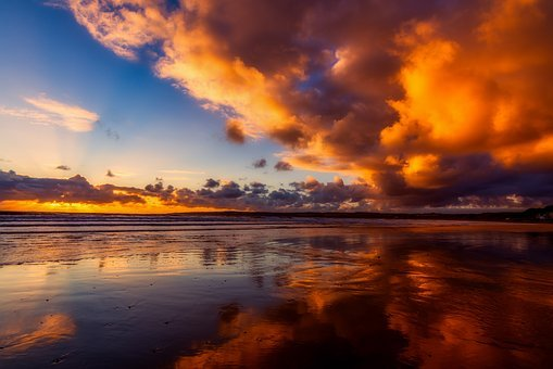 Seascape, Beauty, Light, Sunlight, Autumn, Fliey