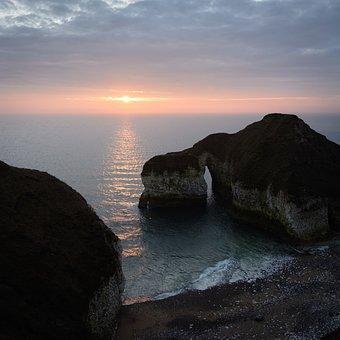 Seascape, Sunrise, Flamborough, Bridlington