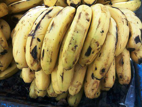 Banana, Yellow, Sweet, Natural, Fresh, Fruit, Health