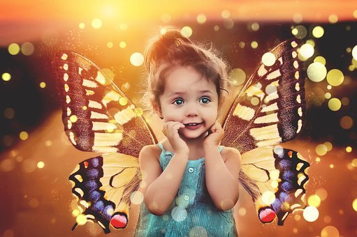 Child, Fee, Magic, Butterfly, Wing, Butterfly Wings